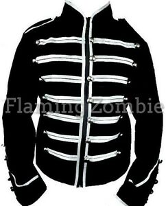 New Black Silver Red Steampunk Jawbreaker MCR Military Parade MJ Jacket S M L XL