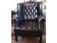 Stunning classic chesterfield leather chair