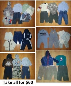 12-18 Mths Baby Boys Clothing Lot 2 (Take 35 Pieces for $60)