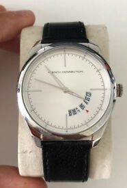 Men's French Connection Watch - Silver/black/white