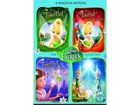Tinkerbell dvds (Disney. set of 4)