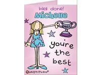 Personalised bang on the door you're the best card