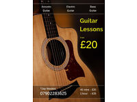 Guitar & Bass lessons