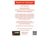 Ringwood Unplugged Monthly Live Music Showcase - 100% Unplugged Real Fresh Music! 4th May 2017