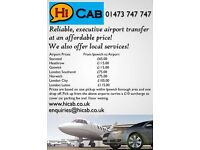 Executive airport taxis Ipswich