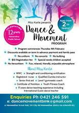 Dance and Movement By Miss Karlie. NEW program for kids Merewether Newcastle Area Preview