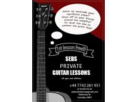 Guitar Lessons in London (first lesson free!!!)