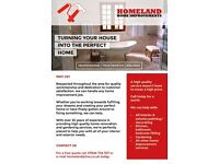 Painting, decorating, kitchen/bathroom/bedroom fitting & all other home improvement services
