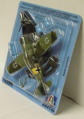 Fw-190 F, Italeri, 1:100, Metall, Die Cast, NEU, Fertigmodell,deutsche Luftwaffe