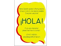 SPANISH LESSONS, NATIVE TEACHER, ALL LEVELS WELCOME !!! :)