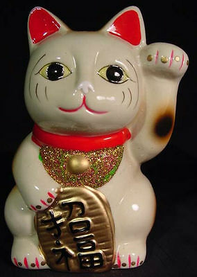 Happiness Lucky Maneki Neko Beckoning Cat