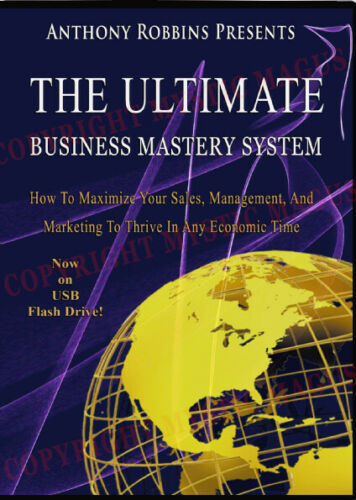 NEW! Ultimate Business Mastery System Complete. Tony Robbins, Chet Holmes on USB