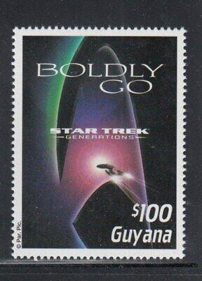 GUYANA Boldly Go: Star Trek Generations MNH stamp