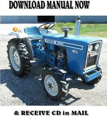 Ford Tractors Repair Manual 1100 1110 1200 1210 1300 1310 1500 1700 1900 On Cd