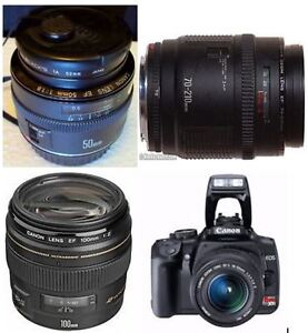 Canon Camera + Lenses Buy/Trade