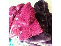 Baby girls 2 beautiful winter coat both for 5 pounds or each 3 pounds.