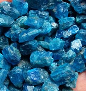 Blue Apatite Crystal Stone Natural Rough Mineral Specimens