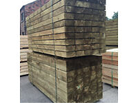 "🌳Wooden Sleepers Tanalised -8""X 4""X 2.4M -New-🌲"