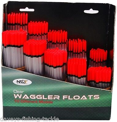 10 ASSORTED WAGGLER FLOATS RIVER LAKE REED CANAL COARSE CARP FISHING WAGGLERS