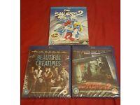 3 brand new blu ray movies