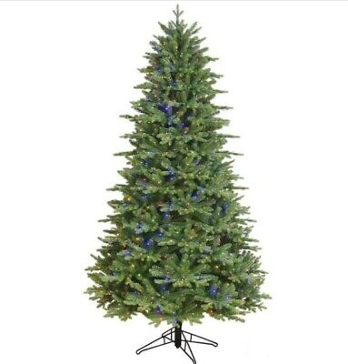 GE 7.5-ft Aspen Fir Pre-Lit  Slim Artificial Christmas Tree 750 LED Color change