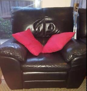 2 x Leather Recliners and 1 x 2 Seat Sofa Hunters Hill Hunters Hill Area Preview