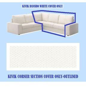 IKEA Kivik Corner Section Sofa Cover NEW Dansbo White(Add Mates,DiscntShp)Sealed