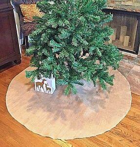 Christmas Tree Skirt Burlap 60 inch Handmade