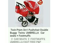Double / Twin Pram / Pushchair Bargain