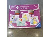 Disney Princess jigsaws x4. Vgc! Smoke free and pet free home.