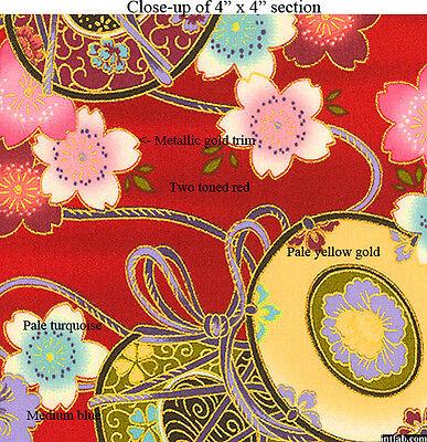 Kona Bay Fabrics  Nobu 23 Red  Nobu Fujiyama