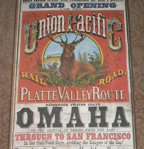 Union Pacific Railroad Platte Valley Route Poster