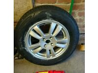Brand New 15 inch allow with brand new tyre 195/65/15 wit