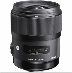 Used Sigma 35mm 1.4 ART Lens plus USB Calibration Dock for Canon