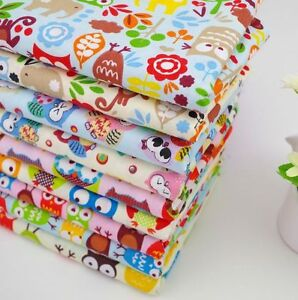 New 9 pcs bundle children fabric quilting crafts 25 x 25 for Childrens fabric bundles