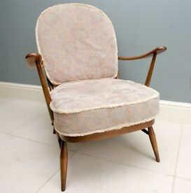 Gorgeous - totally original vintage Ercol chair model 203 - in superb condition - totally untouched