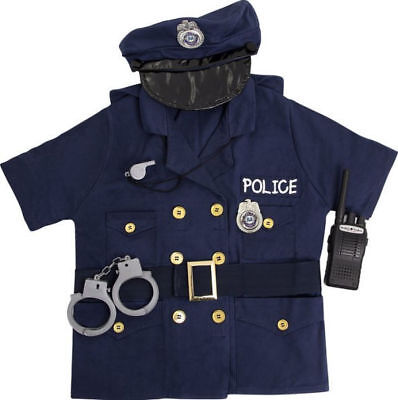 FAO Schwarz Police Officer Kids Costume for Age 3-6 NEW