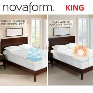 "NEW NOVAFORM MATTRESS TOPPER KING G-TOP-93225-KG-WHT 232490431 3"" SEASONAL MEMORY FOAM"
