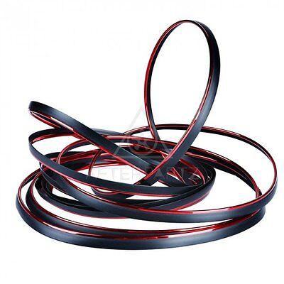 AFTERPARTZ 10M Zierstreifen flexibel Innen & Außen Dekorative Zierleiste Rot