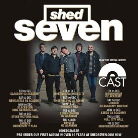 4x Shed Seven standing tickets, Rock City Nottingham, Friday 8th December 2017