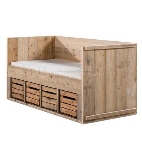≥ Kinderbed steigerhout STEIGERHOUTEN bedden BED kinderbedje ...