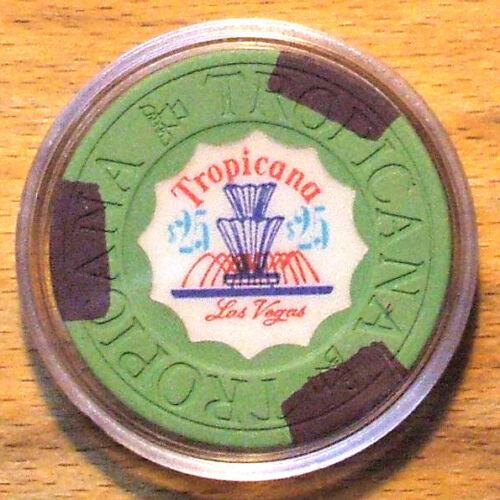 $25. TROPICANA CASINO CHIP - 1972 - Las Vegas, Nevada - Fountain Chip