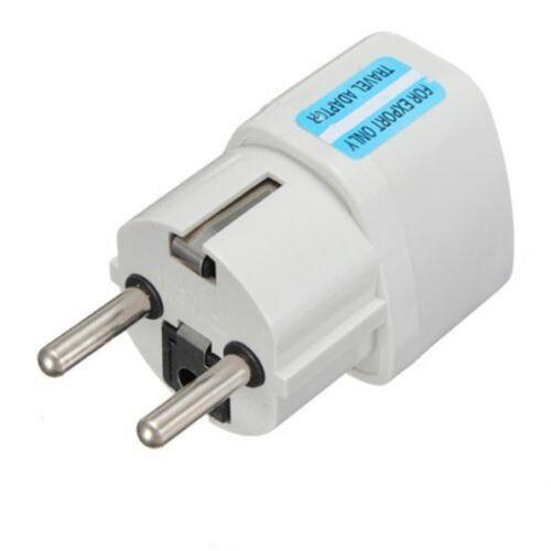 Portable UK EU US AU to EU European Power Socket Plug Adapter Travel Conve E6Y4