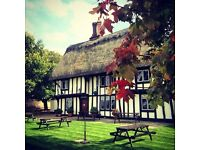 Award winning village pub looking for experienced front of house staff