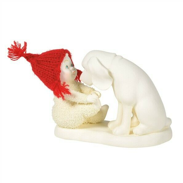 """FREE SHIPPING DEPT 56 SNOWBABIES /""""BLOW OUT/"""" HAIR STYLIST DOG #6003498 NEW"""