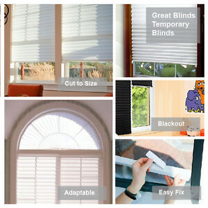 Temporary Pleated Blinds Paper Window Blinds Instant