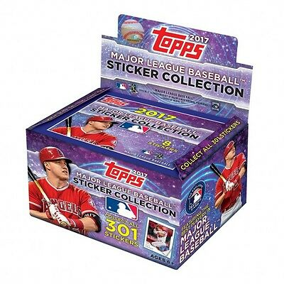 (10) 2017 TOPPS MLB STICKERS COLLECTION 10 PACKS WITH 8 STICKERS PER PACK NEW