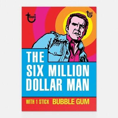 SIX MILLION DOLLAR MAN TOPPS 80TH ANNIVERSARY WRAPPER ART CARD #38 #Topps #SciFi