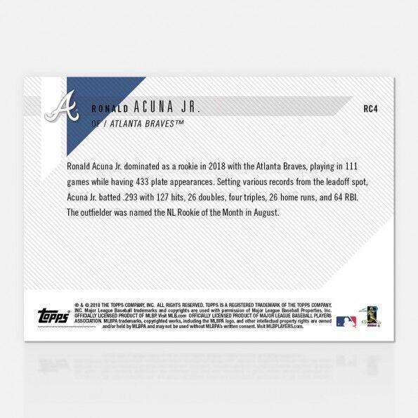 Купить 2018 TOPPS NOW #RC-4 RONALD ACUNA JR. 2018 TOPPS MLB ALL-STAR ROOKIE TEAM