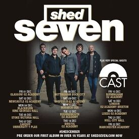 4x Shed Seven standing tickets, O2 Brixton Academy London, Saturday 16th December 2017